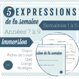 5 expressions de la semaine (1 à 5) / 5 French Idioms of t