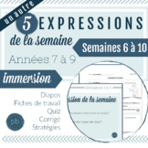 5 expressions de la semaine (6 à 10) / 5 MORE French Idiom