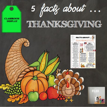 5 facts about Thanksgiving