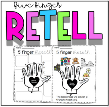 Five Finger Retell Anchor Chart Worksheets Teaching
