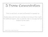 5 frame concentration 0-5 CCSS K.CC.1