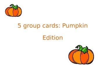 5 group cards: Pumpkin edition