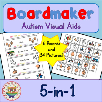 5 in 1 Board and Cards - Boardmaker Visual Aids for Autism