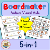 5 in 1 Board and Cards - Boardmaker Visual Aids for Autism SPED