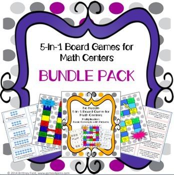 Multiplication Games 3rd Grade Bundle {3.OA.1, 3.OA.7}