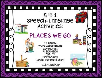 5 in 1 Speech-Language Activities:  Places We Go