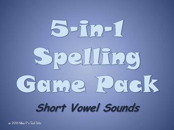 Spelling Game 5-Pack [Short Vowels]