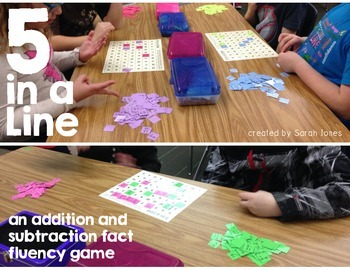 5 in a Line: Addition & Subtraction Fact Fluency