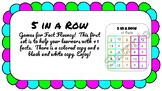5 in a Row +1 Fact Fluency