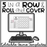5 in a Row & Roll and Cover EDITABLE Templates to Make You