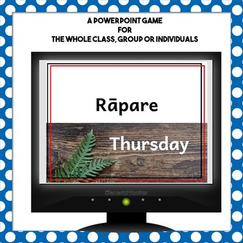 Maori Language Days Months and Seasons PowerPoint 5 in a Row Game