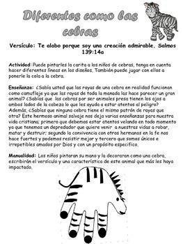 5 lecciones Bíblicas con animales (Español)