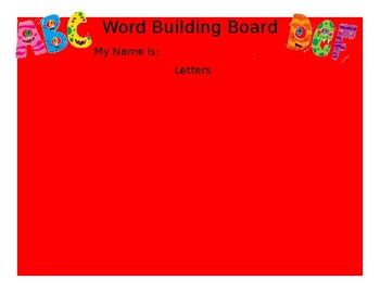 5 letter word building board
