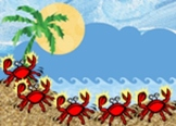 5 little crabs