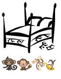 5 little monkeys file folder