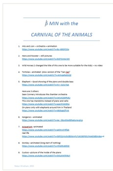 5 min with the Carnival of the Animals
