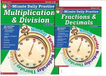 5-minute Daily Practice Bundle grades 4-8