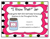 5 minute Math Kindergarten CCSS Brain Busters