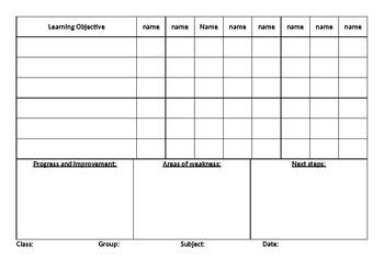 5 minute assessment tracker