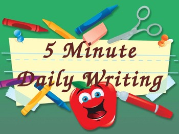 5 minute daily writing prompts