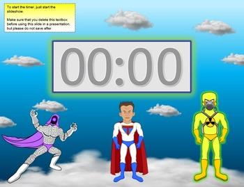 5 minute timer (Super Hero Theme)