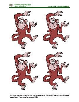 5 monkeys jumping on the bed: 5 monos saltando en la cama