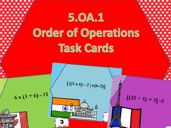 5.oa.1 Orders of Operation Task Cards