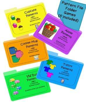 5 pack of pattern file folder games