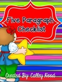Five paragraph writing checklist