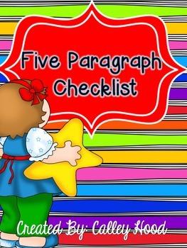 Five paragraph writing checklist