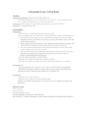 5 paragraph essay - outline worksheet - Fall of Rome