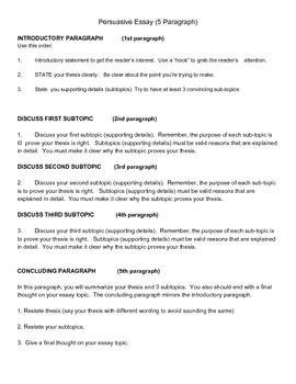 5 paragraph essay structure