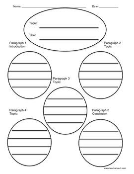 5 paragraph graphic organizer (web)