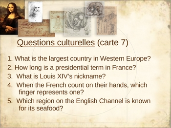 """""""5 questions"""": cultural questions on the French-speaking world"""
