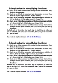 5 rules for simplifying fractions cheat sheet - easier tha