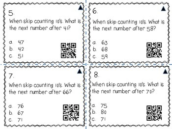 5's 10' and 100's Skip Counting (with QR codes)