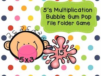 5's Multiplication- Bubble Gum File Folder