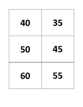 5's Multiplication Flashcards