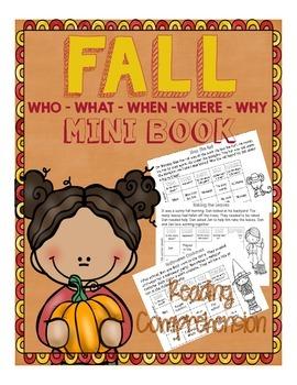 5's W's mini book : fall theme