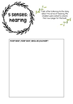 5 senses - hearing printable resource