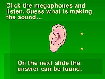 5 senses powerpoint (hearing) game