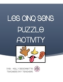 5 senses puzzle for Early/Primary French Immersion or Early Core