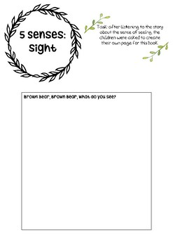 5 senses: sight - printable template