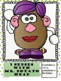 5 senses with Mr. Potato Head: For use as Worksheets or File Folders