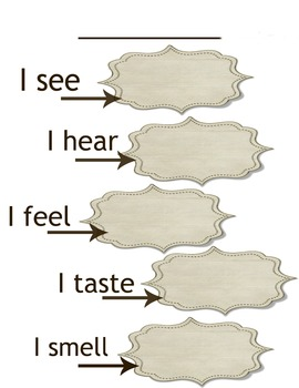 5 senses writing