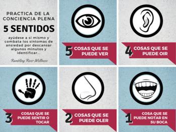 5 sentidos, una actividad de conciencia plena