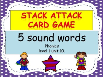 """5 sound words """"Stack Attack"""" Card Game"""