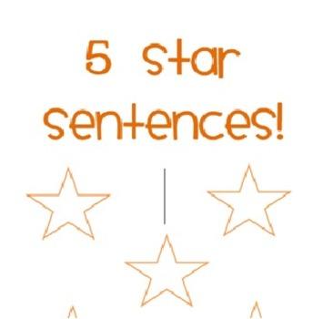 5 star sentences posters