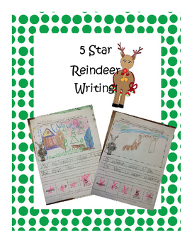 5-star writing Reindeer FREEBIE!!