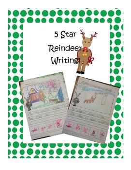 5-star writing Reindeer FREEBIE!!